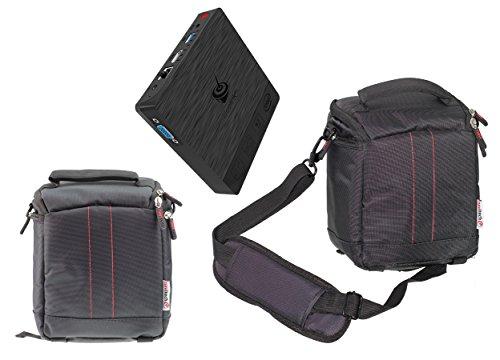Navitech Black Mini PC Bag Case Compatible with The AMINZER NEXBOX T11 Mini  Pc