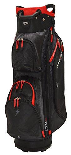PowerBilt Unisex's Tpx Golf Cart Bag, Black/Red, One Size