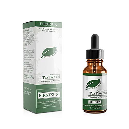 Beito 1Bottle Aceite esencial de arbol de te Tea Tree Aceite esencial Manchas Manchas naturales Tratamiento para el acne Hidratante de la piel Uso con todo tipo de pieles para rostro y cuerpo