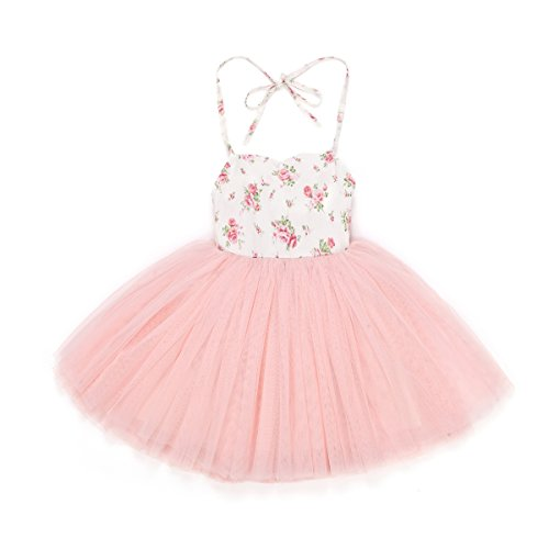 Flofallzique Girl's Special Occasion Dress Baby To Big Girl Wedding Party Dress (0)