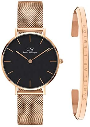 Daniel Wellington Gift Set, Petite Melrose 32mm Rose Gold Watch with Classic Bracelet, Size Small
