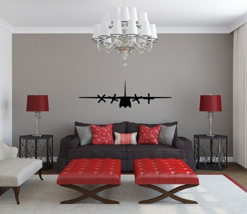 Airplane Silhouette - Lockheed C-130 Hercules Airplane Silhouette Vinyl Wall Decal Sticker Graphic