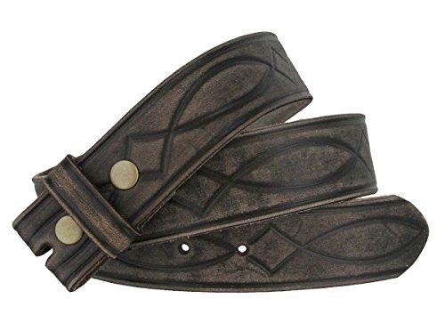 Fullerton 382000 Genuine Full Grain Leather Tooled Belt Strap 1-1/2