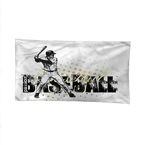Baseballspace tapestrywall Hanging tapestryBaseball Grunge Batting 80W x 60L Inch (Tigers Batting)