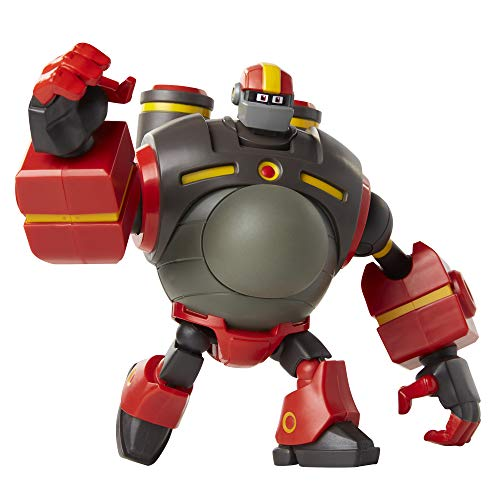 Mega Man: Fully Charged - Deluxe Guts Man Articulated Action Figure with Expanding Belly and Guts Man Buster Accessory (to swap onto the Mega Man figure)! Based on the new -