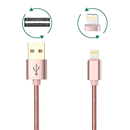 trands-lightning-to-usb-cable-sync-metal-stetchable-data-cable-for-iphone-ipad-ipod-gold