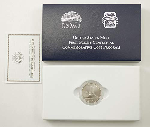 - 2003 P First Flight Centennial Commemorative Clad Half Dollar in Original Government Packaging Half Dollar Uncirculated US Mint