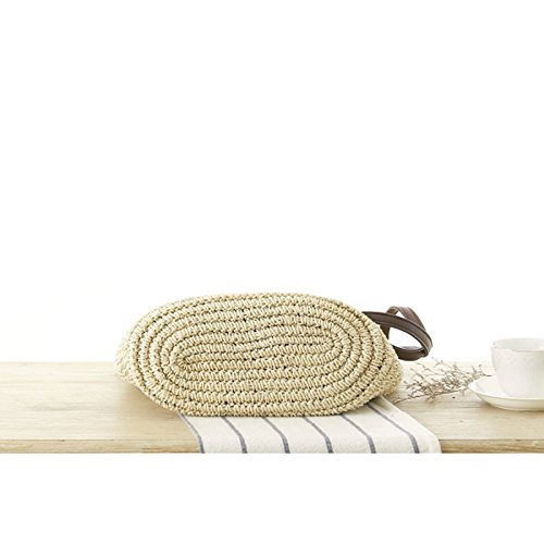 Straw Cute Bale Shoulder Woven Music Girl ZCM Vacation Bundle 2 Color Optional Personality Temperament Shopping Handbags Festival Bag Beige wXH6xx