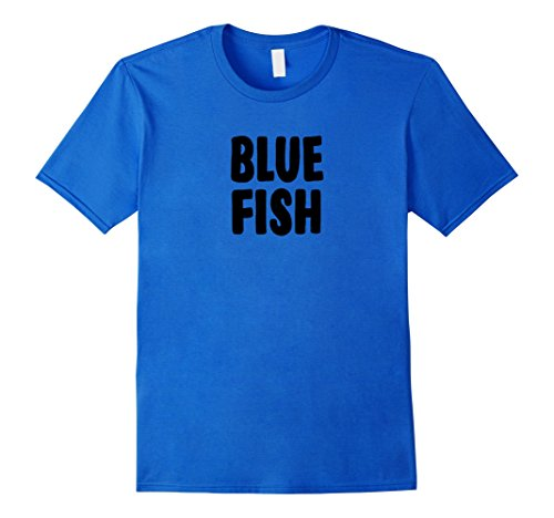 Mens Blue Fish Group Halloween Costume T-shirt Large Royal Blue -