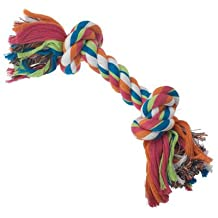 Petrageous Designs 70734 13 in. 2 Knot Rope Bone Toy