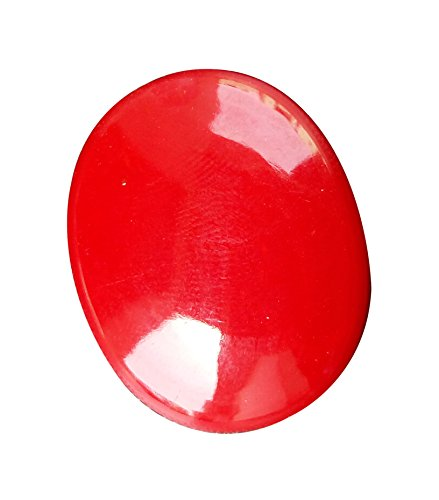 Fast Run Sell offer on Synthetic Red Roral 31x25x7mm, 46 Cts.,Oval & Cabochon Powered By GEM MART U.S.A.