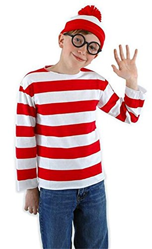 Where Wally Costumes (HBMaida Kids Where's Waldo Adult Costume Kit)