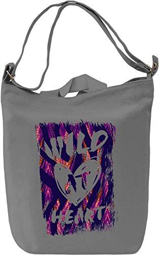Wild Heart Borsa Giornaliera Canvas Canvas Day Bag| 100% Premium Cotton Canvas| DTG Printing|