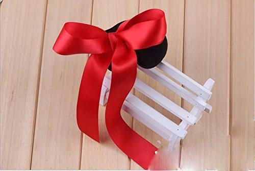 Juego de 3 accesorios para el pelo para mujeres y niñas, color negro + rojo + rosa con lazo esponja para hacer moños y moños: Amazon.es: Belleza