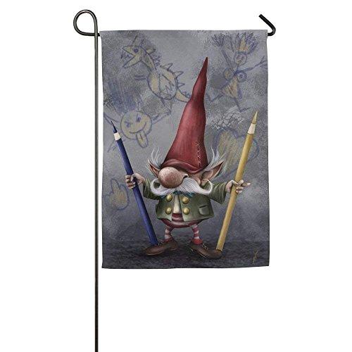 (HUVATT Personalized Gnomes Season Porch Yard House Garden Flags 12 X 18 Polyester Fiber Banners)