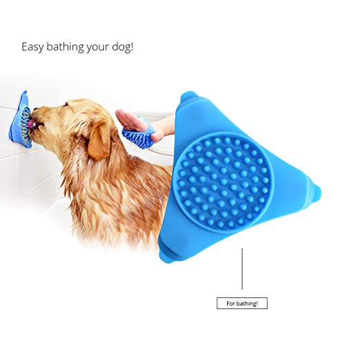 PetsCare Dog Distraction Slow Feeder Bath Device Licking Pad Dog Treat Mat Pet Bath Mat Dispensing Mat Suctions to Wall for Pet Bathing Grooming and Dog Training ...