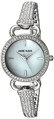 Anne Klein Women's AK/2817MPSV Swarovski Crystal Accented Silver-Tone Bangle Watch