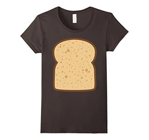 Diy Funny Group Costumes (Womens Sliced Bread Toast Matching Shirts DIY Halloween Costume Small Asphalt)
