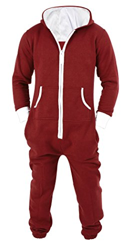 SKYLINEWEARS Men's Unisex Onesie Jumpsuit One Piece Non Footed Pajama Playsuit XX-Large Red]()