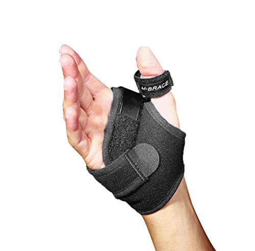 M-Brace AIR Thumb Splint Brace, Left, Black, (Left Hand Air)