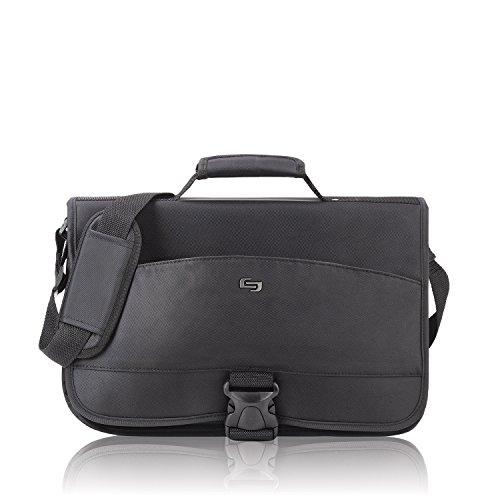 Solo Conquer 15.6 Inch Expandable Laptop Messenger, (Expandable Organizer Brief Bag)