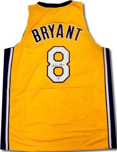 51b8d0da4d7 Signed Kobe Bryant Jersey -  8 B08871 - PSA DNA Certified - Autographed NBA