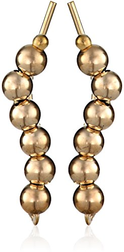 The Ear Pin 10k Yellow Gold Polished Beads Earrings 10k Yellow Gold Pin