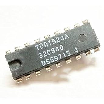 QX Electronics 5PCS TDA1524 TDA1524A DIP-18 Stereo-tone volume
