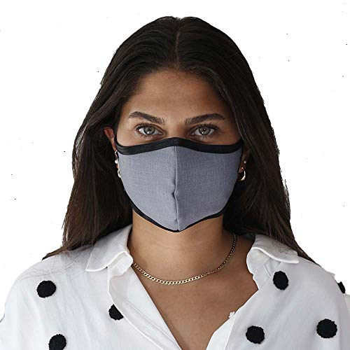 SonoMask by Sonovia | Medium | Pink | Patented Fabric Providing Active Protection | Adjustable Ear Loops & Nose Wire | Washable & Reusable Face Mask