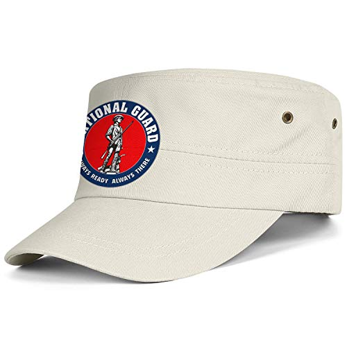 United States National Guard Army Cap Cadet Corps Hat Military Flat Top Adjustable Baseball Cap Unisex