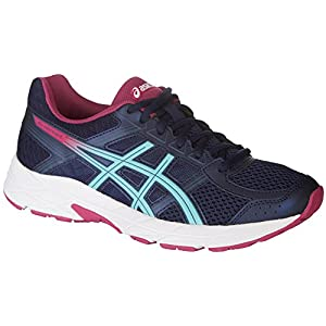 Asics Women's Contend 4 Peacoat Porcelain Blue Fuschia Red 8 M Women's