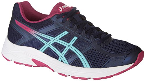ASICS Womens Gel-Contend 4 Running Shoe, Peacoat/Blue/Fuchsia Red, Size 8