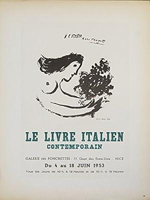 Amazon Com Marc Chagall Le Livre Italien 1959 Mourlot