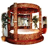Royal 4 Column New Millenium Round Step Up Bed King Size New Item!!!MADE IN  USAON SALE NOW