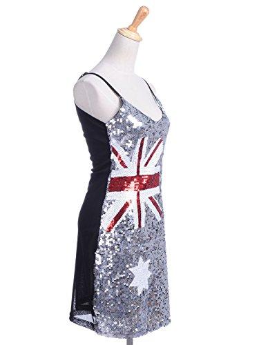 AnnaKaci Damen Pailletten verziert Australische Flagge inspirier ...