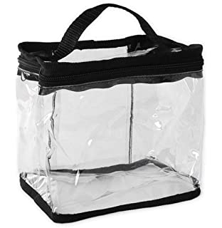 Amazon.com : Clear Totes Train Makeup Case : Cosmetic Bags : Beauty