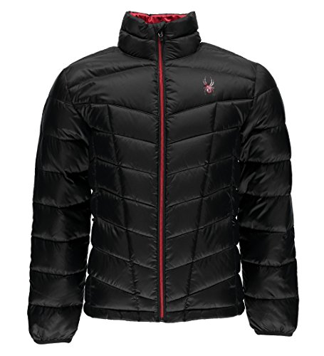 Spyder Pelmo Down Jacket, Black/Red, Large