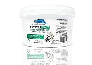 Caballos Sales Epsom Puras - Magnesio Natural 2.5 kg ○ Cataplasma y Baño ○ Reducir el