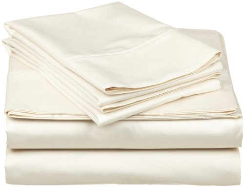 "Egyptian Cotton Queen Sleeper Sofa Bed Sheet Set 400 Thread Count 62""x74""x6"" Ivory Solid"