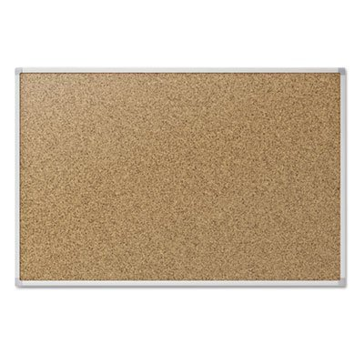 Cork Bulletin Board, 48 x 36, Silver Aluminum Frame, Sold as 1 Each MEAD PRODUCTS