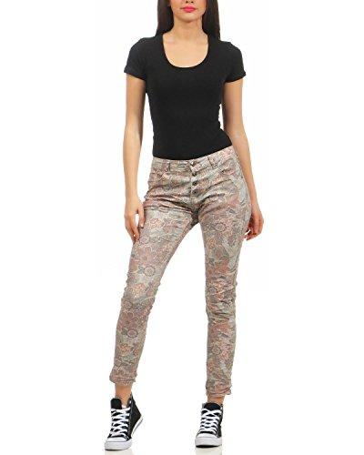 impressions Jour 90089 filles skinny Marron Place jeans du stretch f50 diverses hipsters dames treggings Bz71SaW1q5