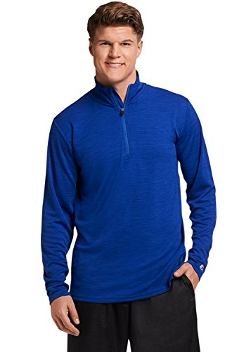Russell Athletic Men's Lightweight Performance 1/4 Zip, Royal, XL