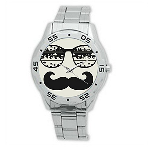 FCA081sunglasses with Mustaches Analogue Stainless Steel Men's - Sunglasses Yamaha