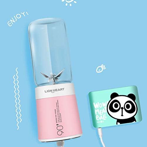 LI_HUA Licuadora portátil Juicer Cup Personal Mini Mezclador Fruit Juicer USB Recargable al Aire Libre Home Smoothies Maker 6 Cuchillas 350 ml BPA Libre