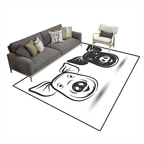 Washable Carpet Face Pig
