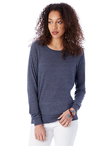 Alternative Women's Slouchy Pullover,Eco True Navy,Medium