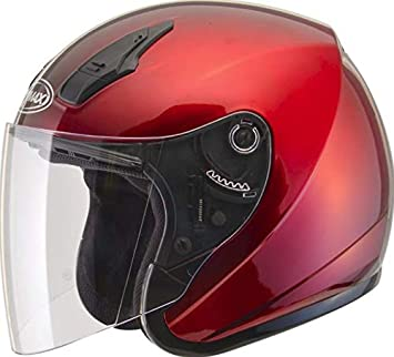 GMAX OF-17 Adult Solid Open-Face Motorcycle Helmet Dark Silver//Large G317196N