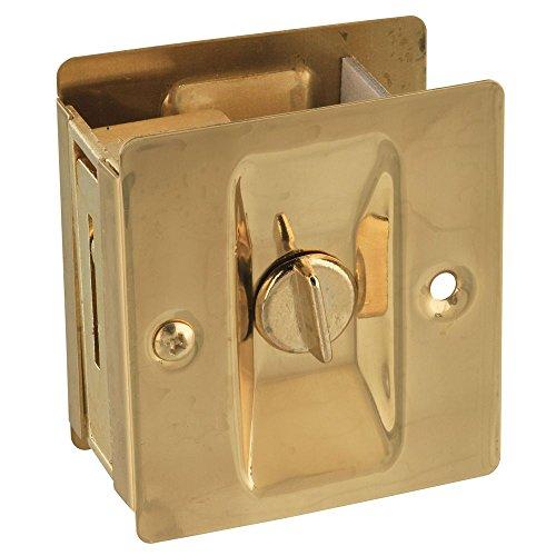 National Hardware N216-077 V1951 Pocket Door Latch in Solid Brass ()