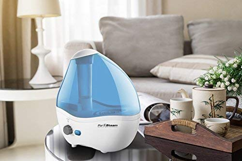 Cool Mist Humidifier, 11 Variable Mist Control Settings, Nightlight, Superior Ultrasonic 2.2 Liter Whisper-Quiet Operation, Ideal for Baby Rooms, Auto Shut-Off, 20 hours Operating Time