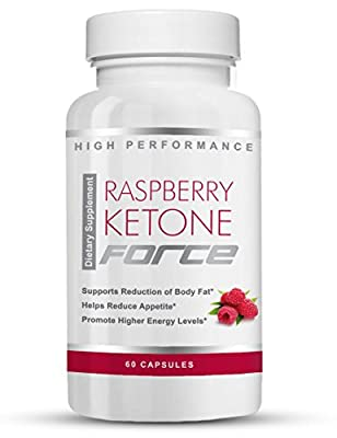 Raspberry Ketone Force - Natural Weight Loss Pills -- Burn Fat - Improve Metabolism - Boost Energy - Reduce Belly Fat - Lose Weight Naturally (60 ct)